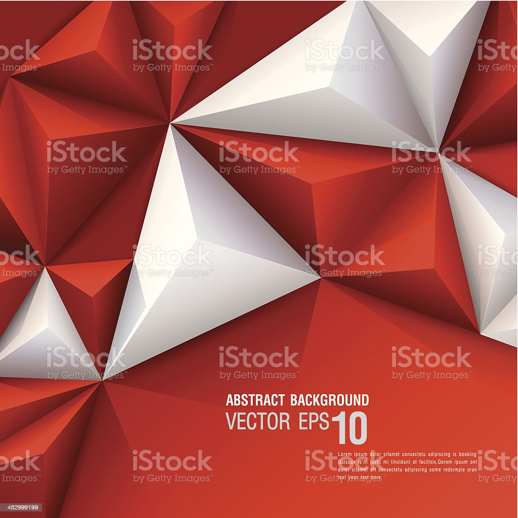 Red and white vector geometric background vector art illustration