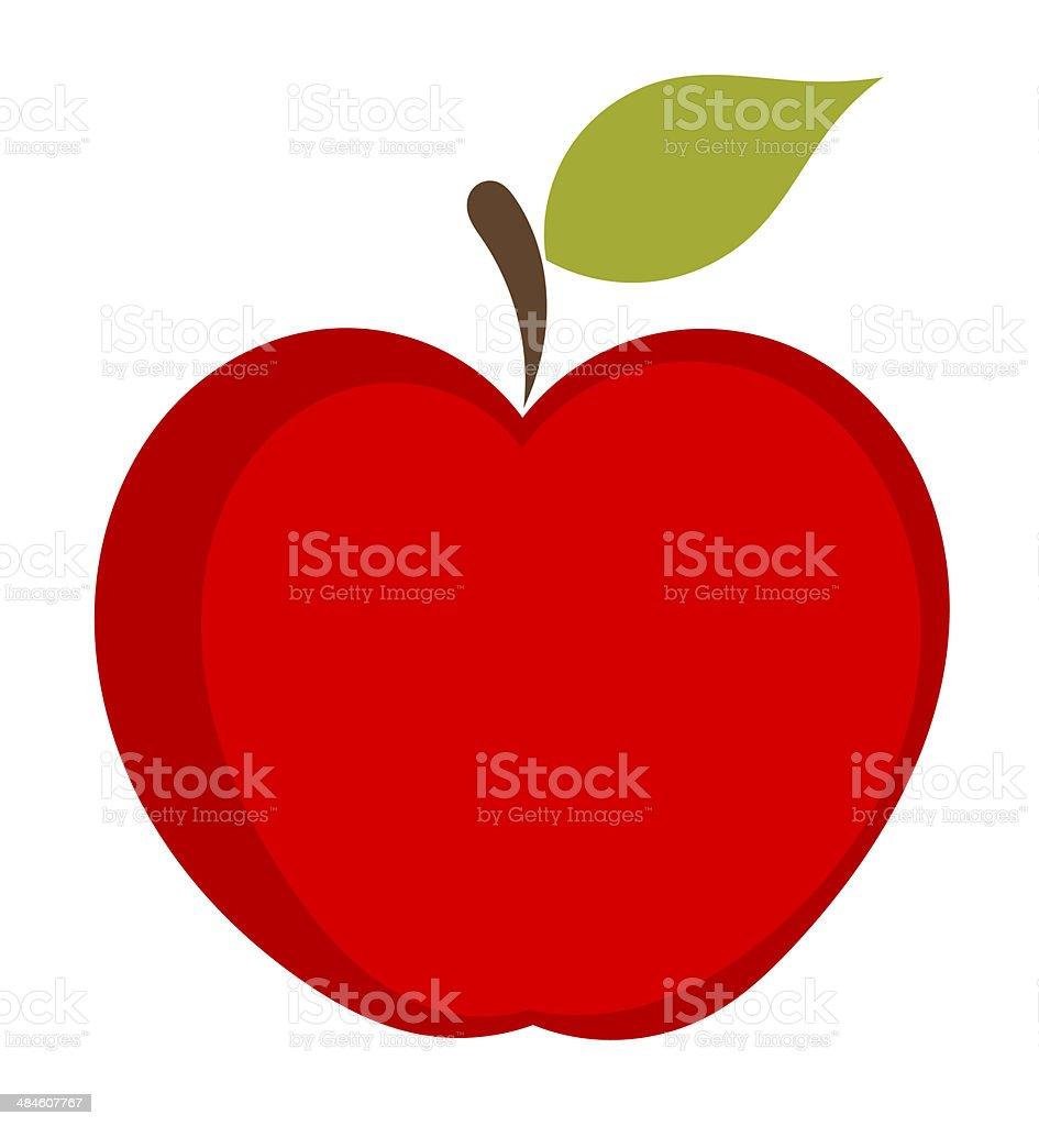 Red apple icon vector art illustration