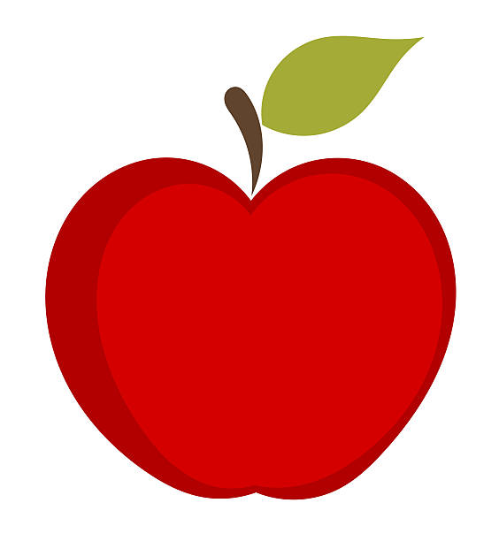 Apple clip art vector images illustrations istock - Apple icon x ...