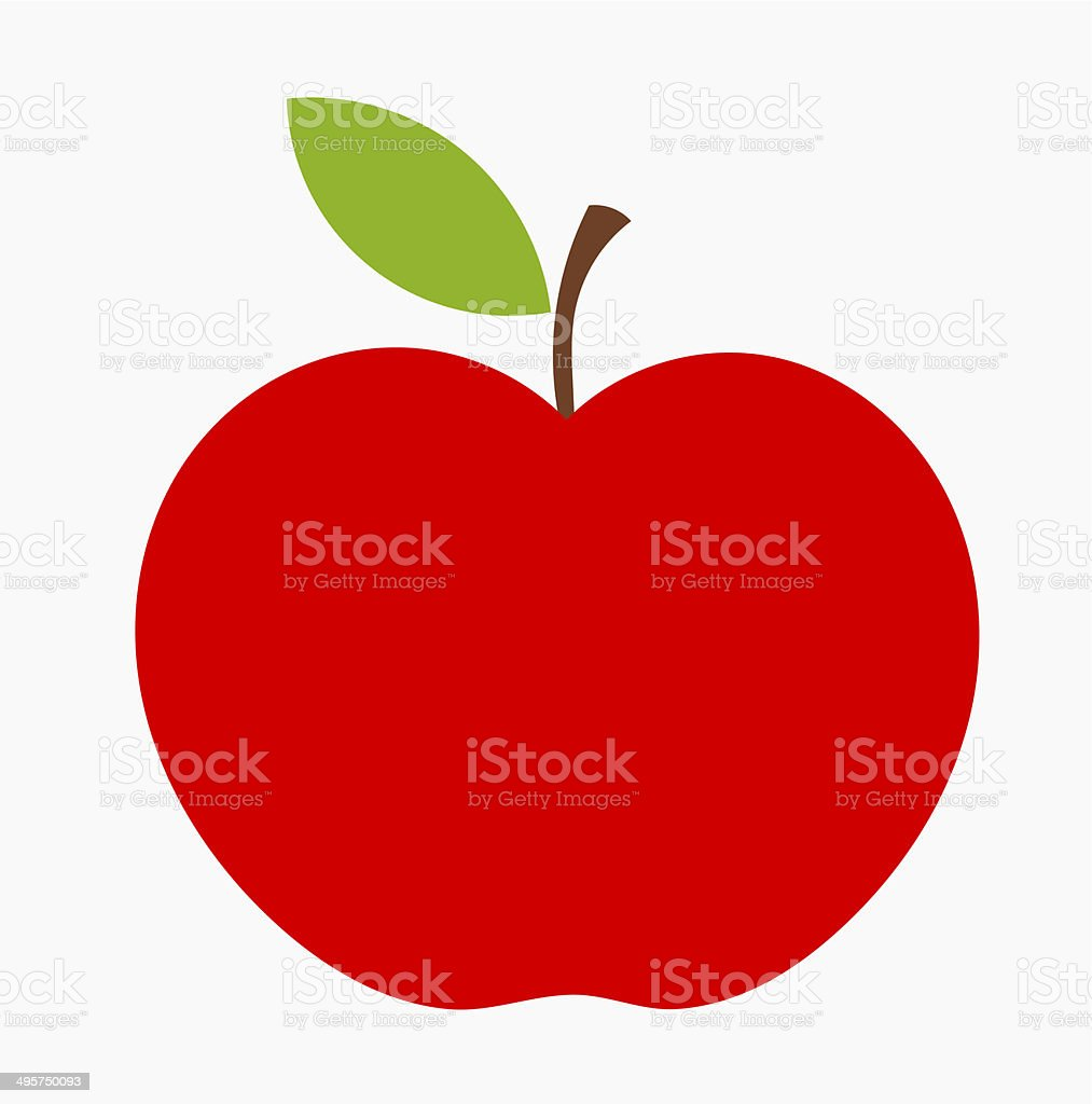 Red apple icon vector art illustration