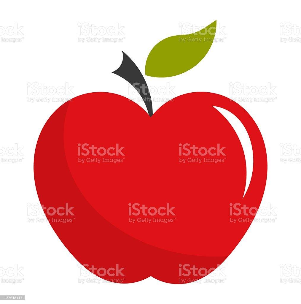 Red apple illustration vector art illustration