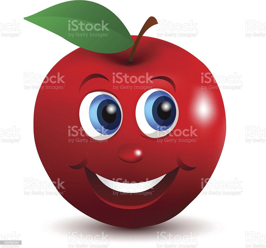 Red ApplePrint royalty-free stock vector art