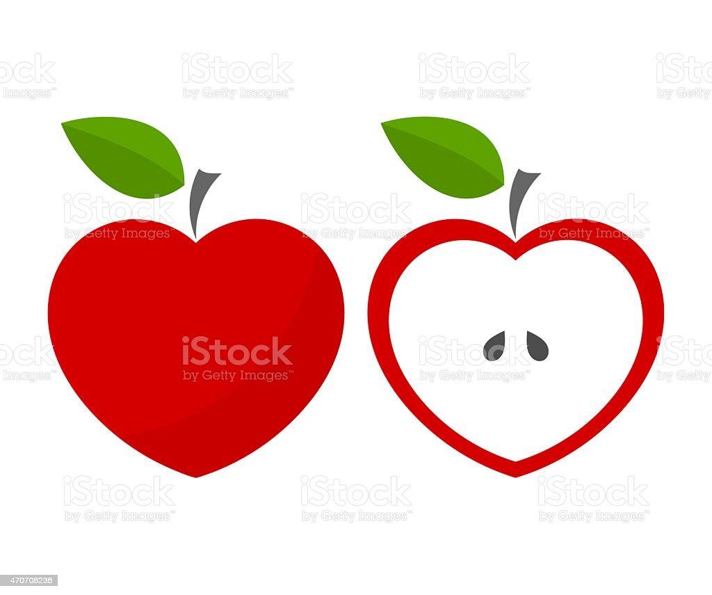 Red apples vector art illustration