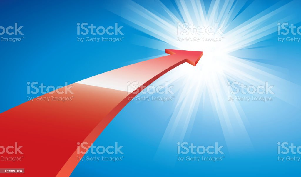 Red arrow royalty-free stock vector art