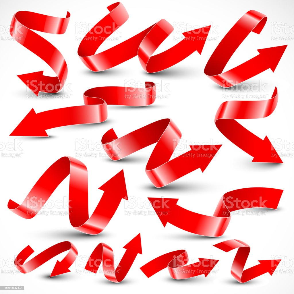 Red arrows. royalty-free stock vector art