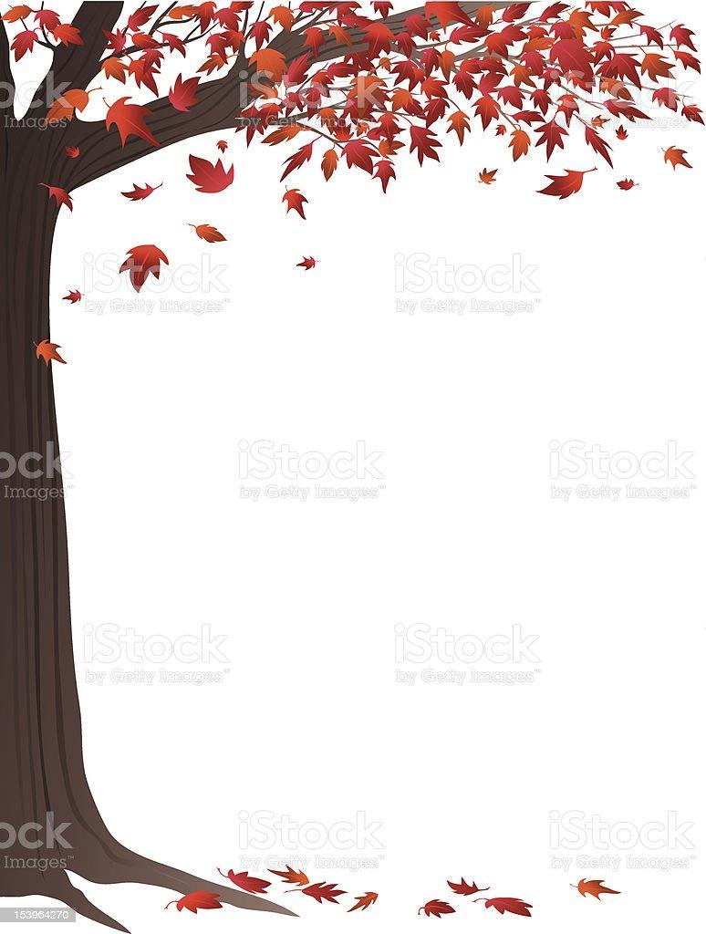 Red Autumn Tree royalty-free stock vector art