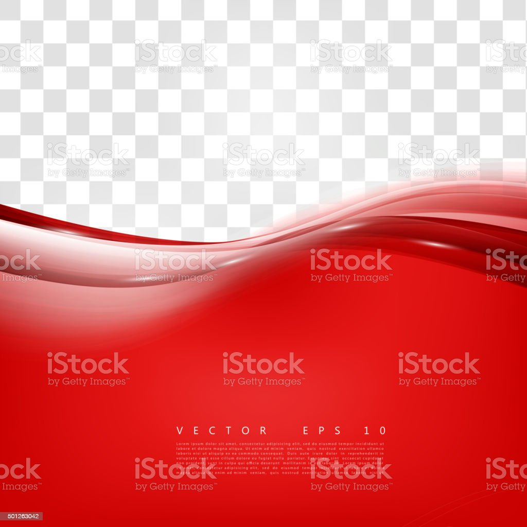 Red background curve. vector art illustration