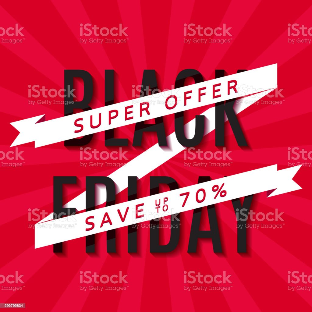 Red background for Black Friday royalty-free stock vector art