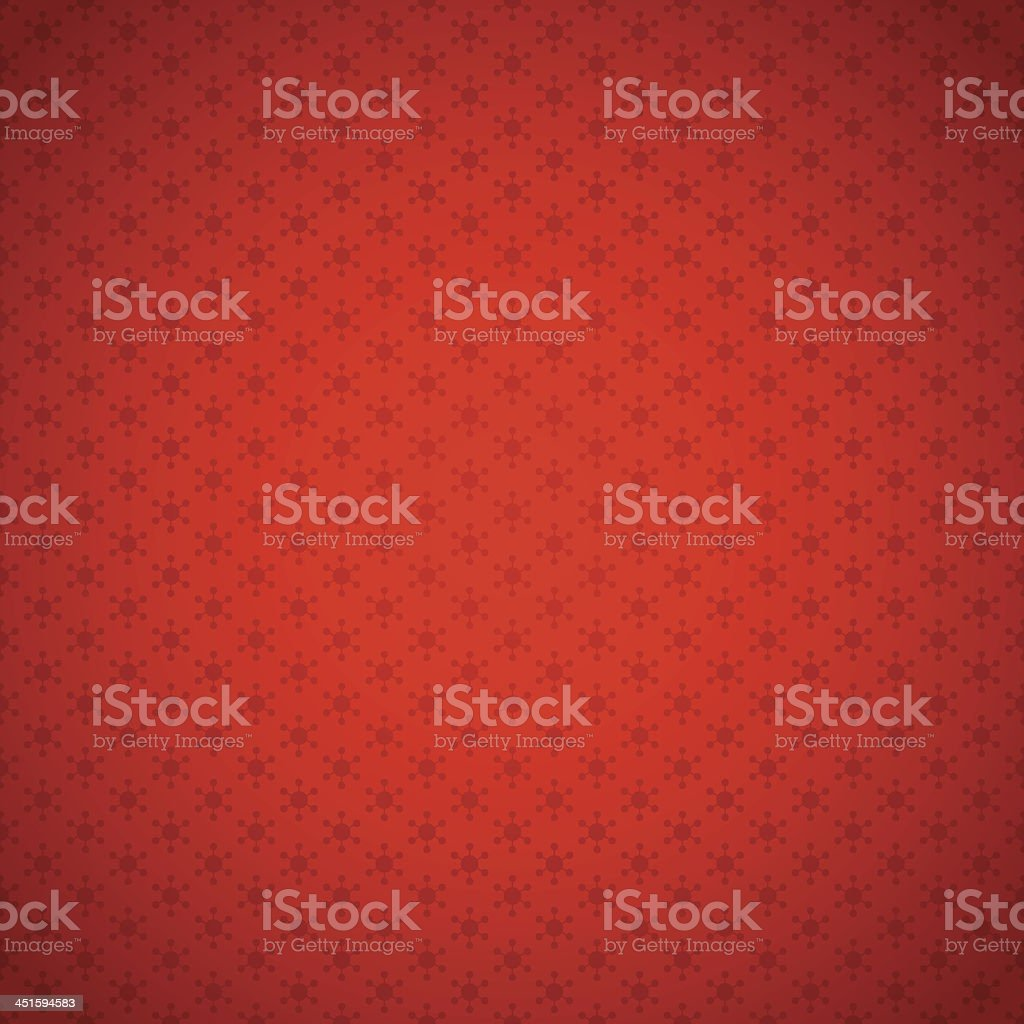 A red background with snowflakes textile vector art illustration