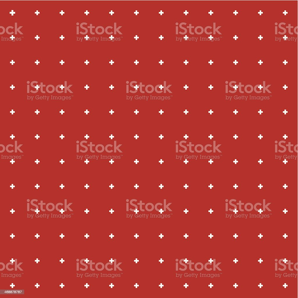 Red background with white dots in a recurring square pattern vector art illustration