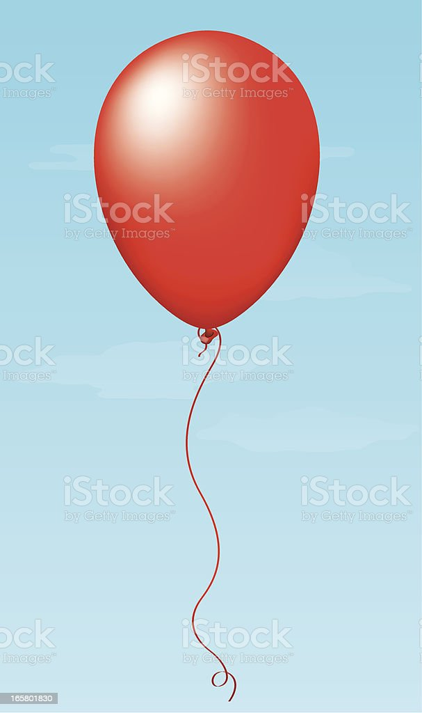 Red Balloon royalty-free stock vector art