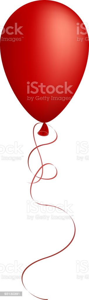 red balloon. vector art illustration