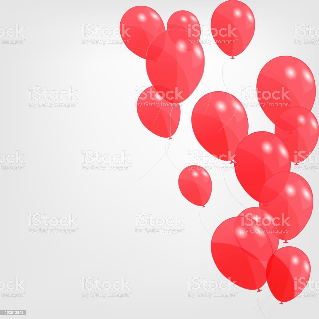 Red balloons, vector illustration royalty-free stock vector art