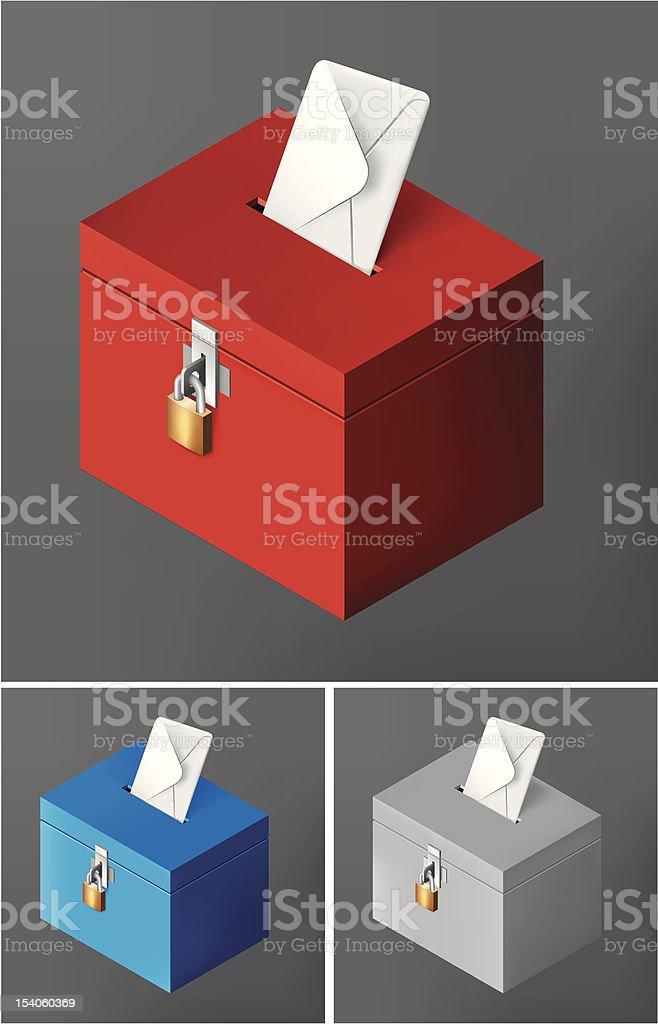 Red ballot box royalty-free stock vector art