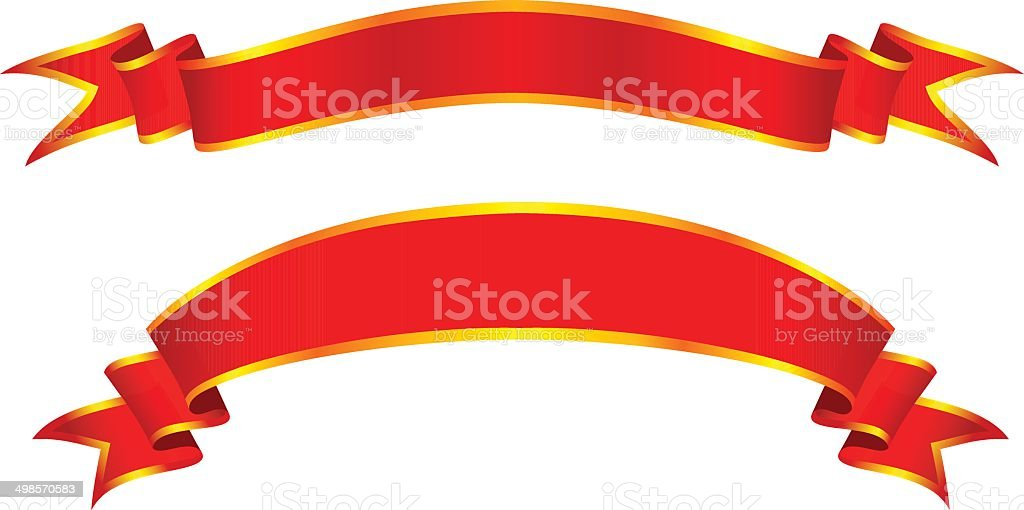 red banners royalty-free stock vector art