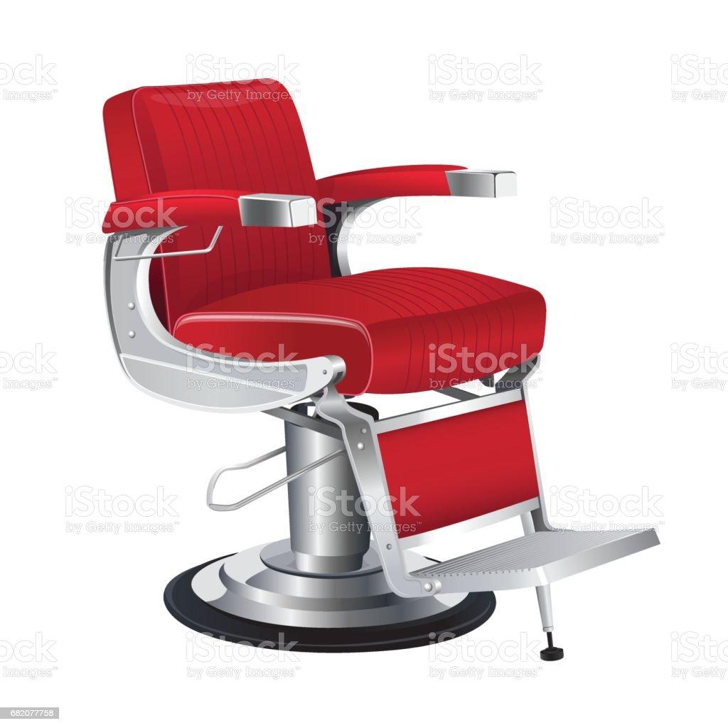 Barber chair vector - Red Barber Chair Vector Royalty Free Stock Vector Art