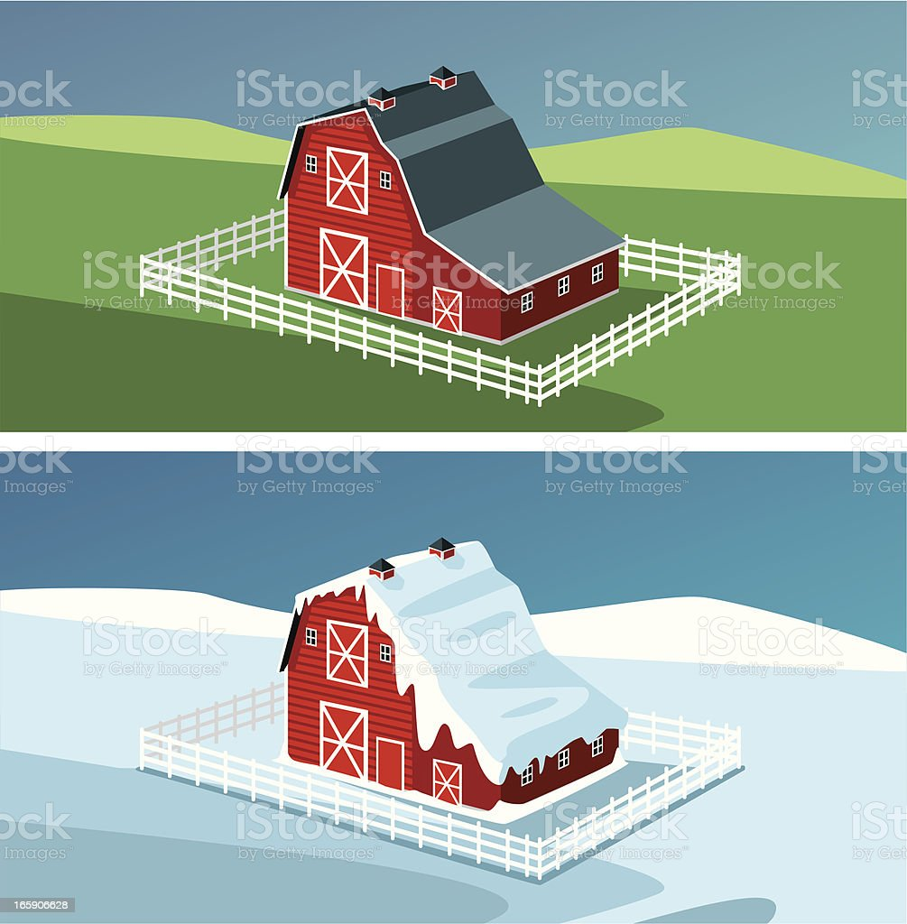Red Barn royalty-free stock vector art