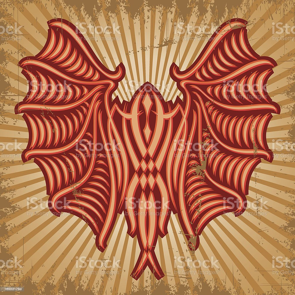 Red Bat royalty-free stock vector art