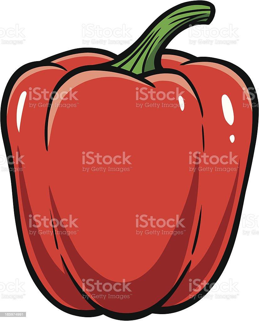 Red Bell Pepper vector art illustration