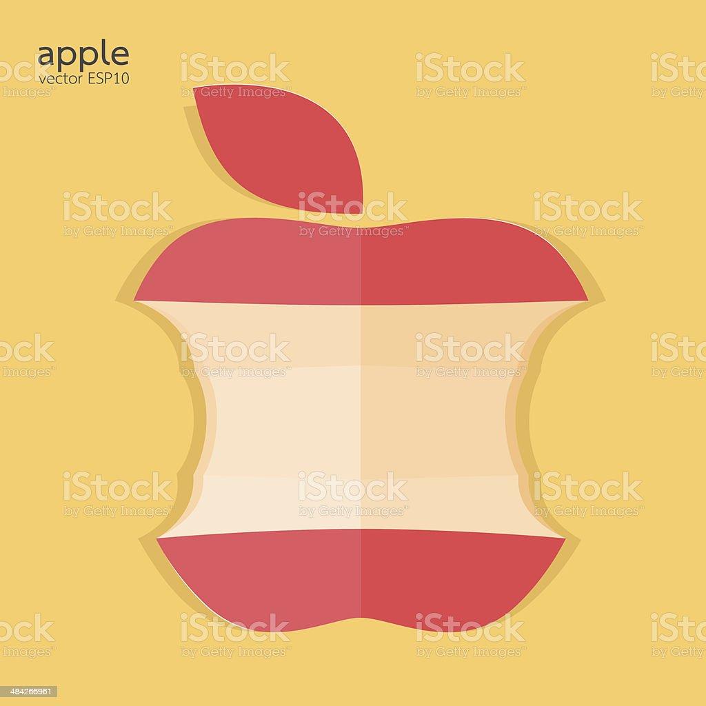 Red bitten apple vector illustration vector art illustration
