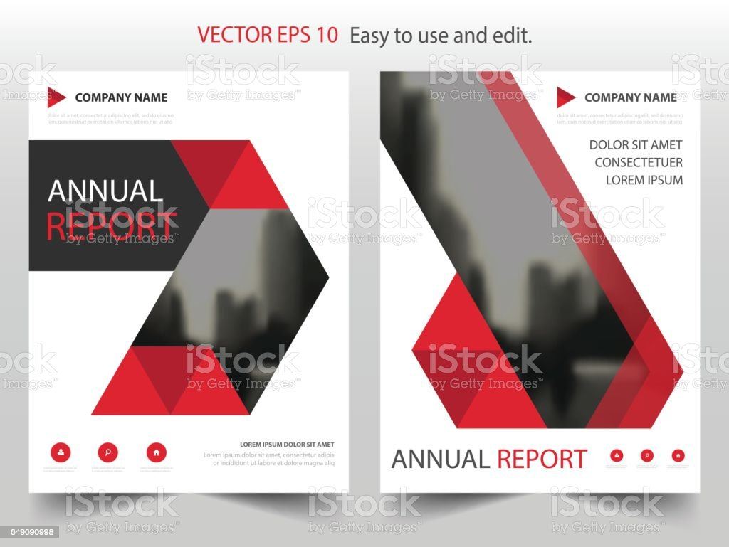 Red Black Triangle Annual Report Leaflet Brochure Flyer Template – Red Flyer Template