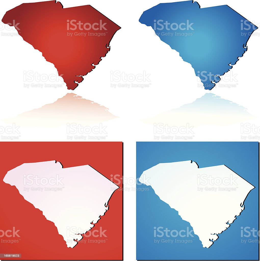 Red Blue South Carolina royalty-free stock vector art