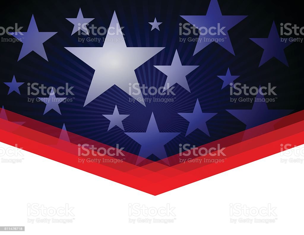 Red Blue Stars and stripes vector art illustration