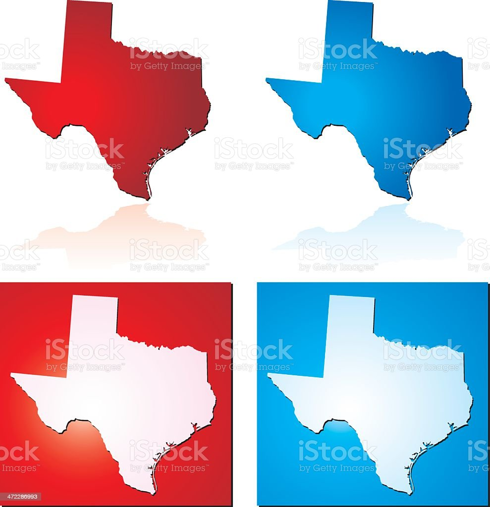 Red Blue Texas royalty-free stock vector art