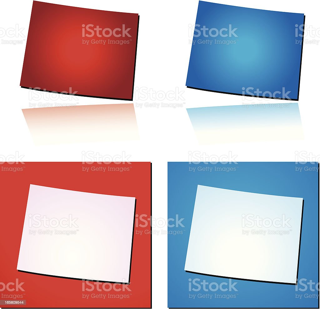 Red Blue Wyoming royalty-free stock vector art