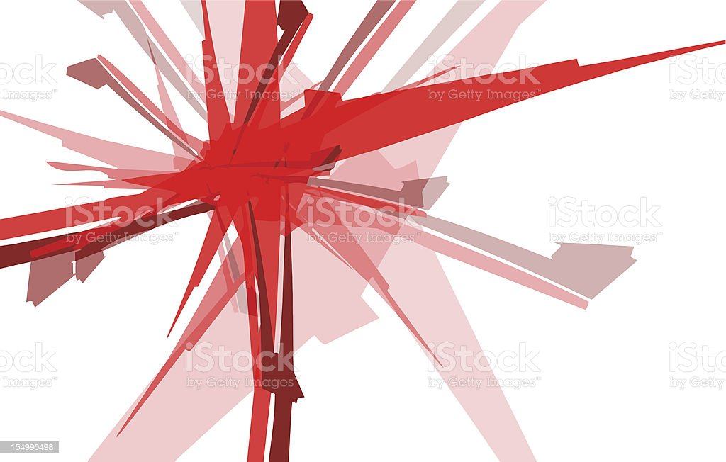 Red Bomb abstract royalty-free stock photo