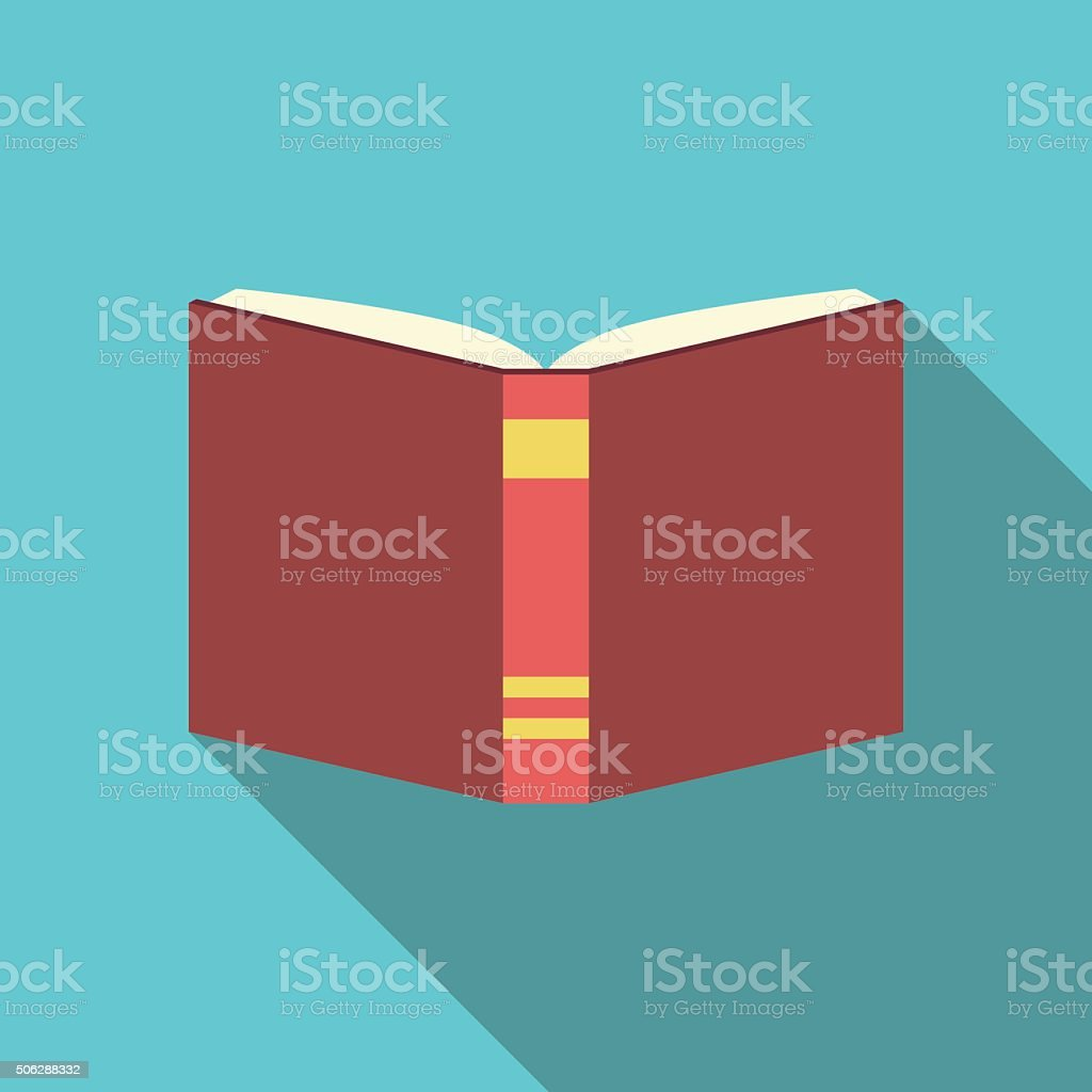 Red book, flat style vector art illustration