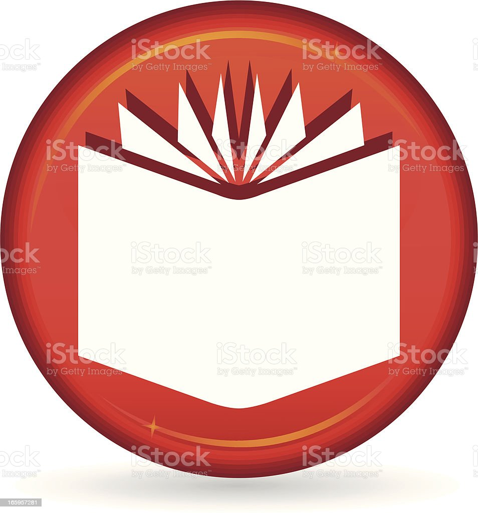 red book icon royalty-free stock vector art
