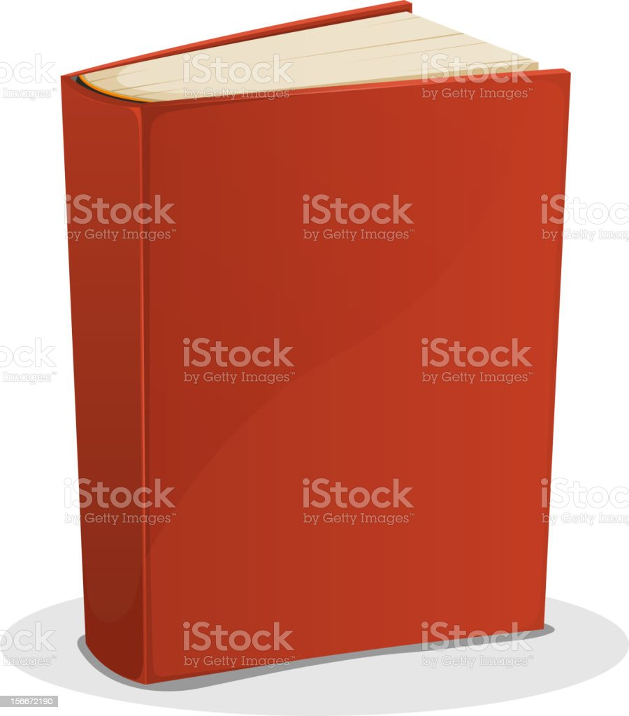 Red Book Isolated On White royalty-free stock vector art