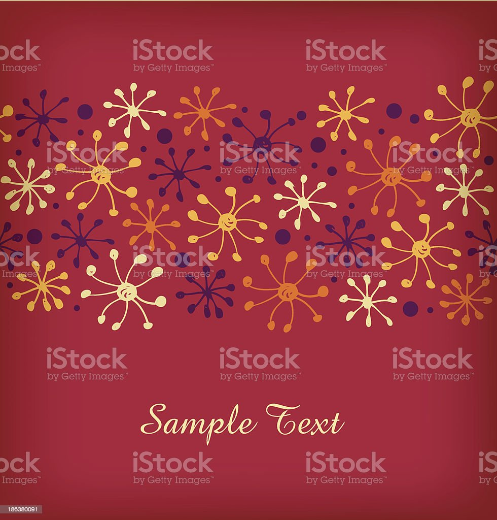 Red border with snowflakes. Decorative ribbon royalty-free stock vector art