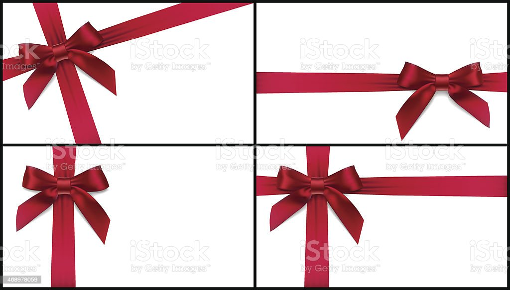 red bow card vector art illustration