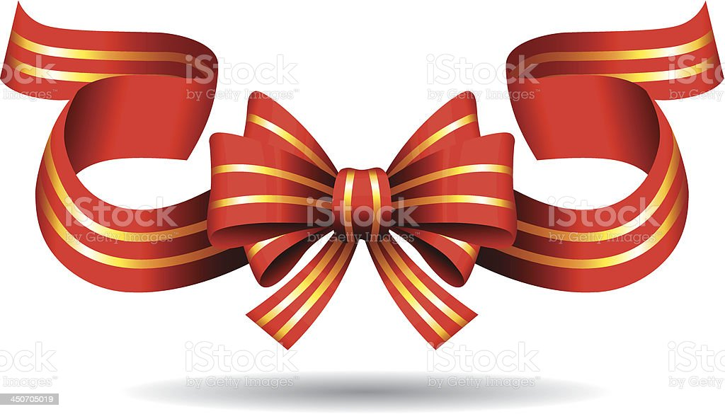 Red Bow royalty-free stock vector art