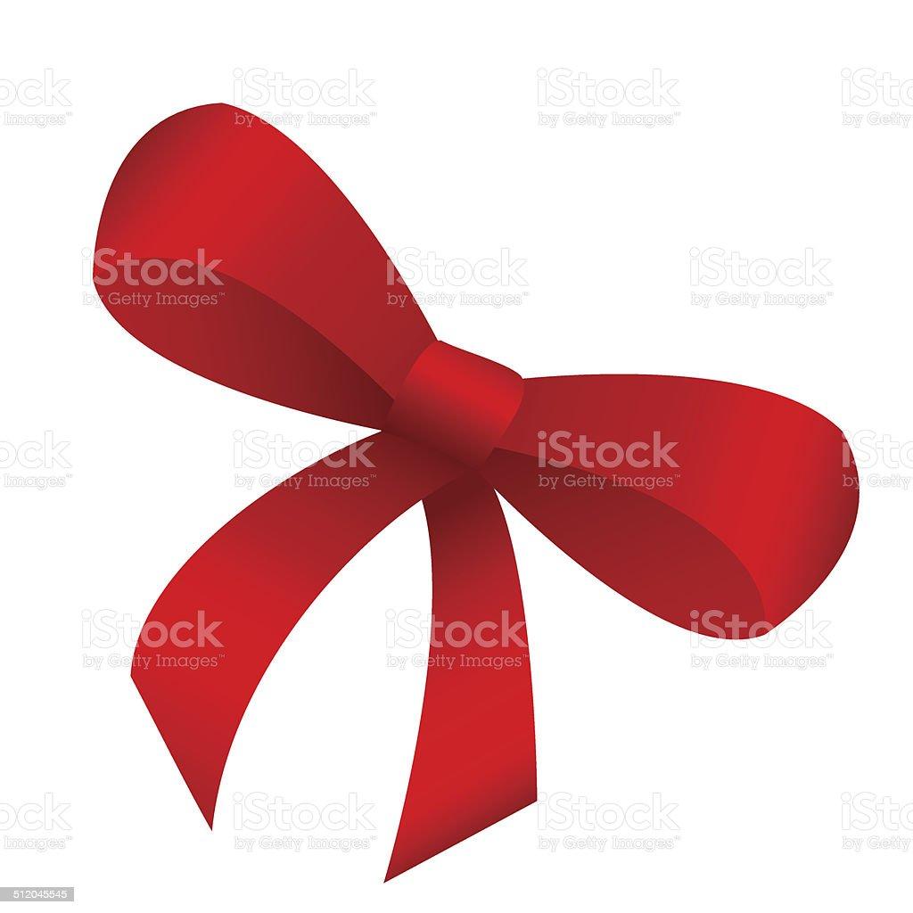 red bow vector art illustration