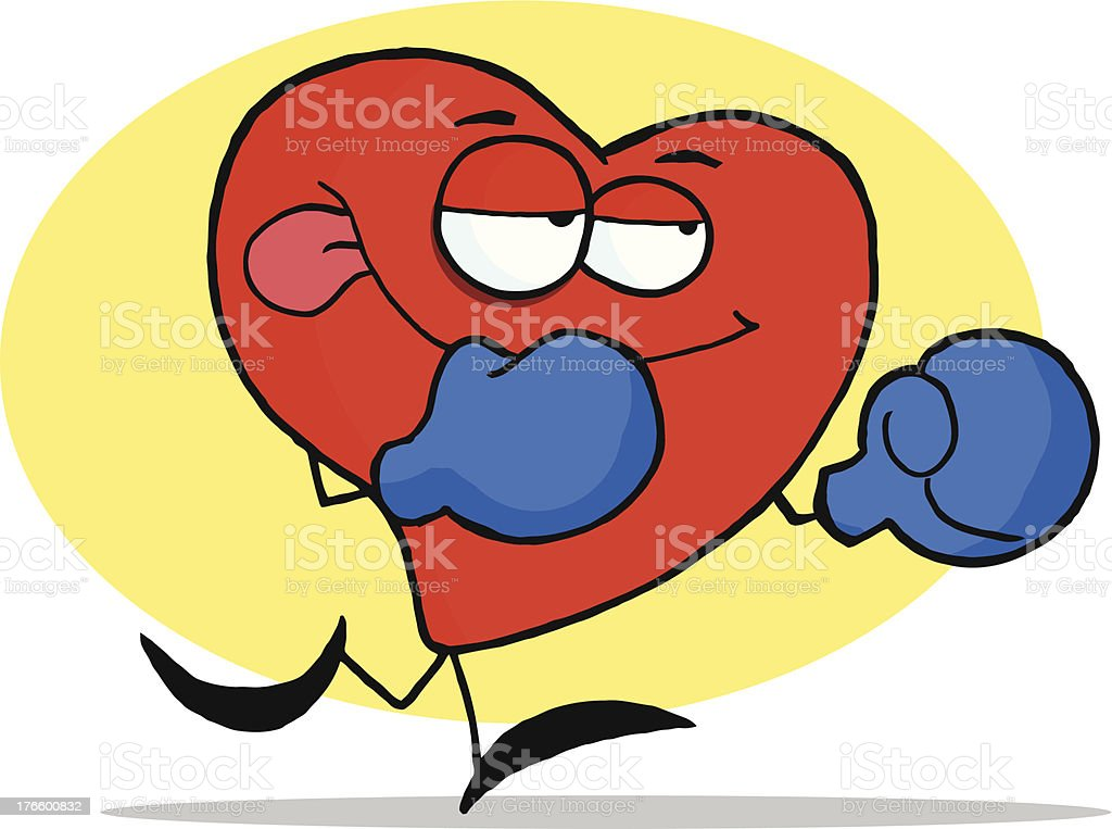 Red Boxer Heart royalty-free stock vector art