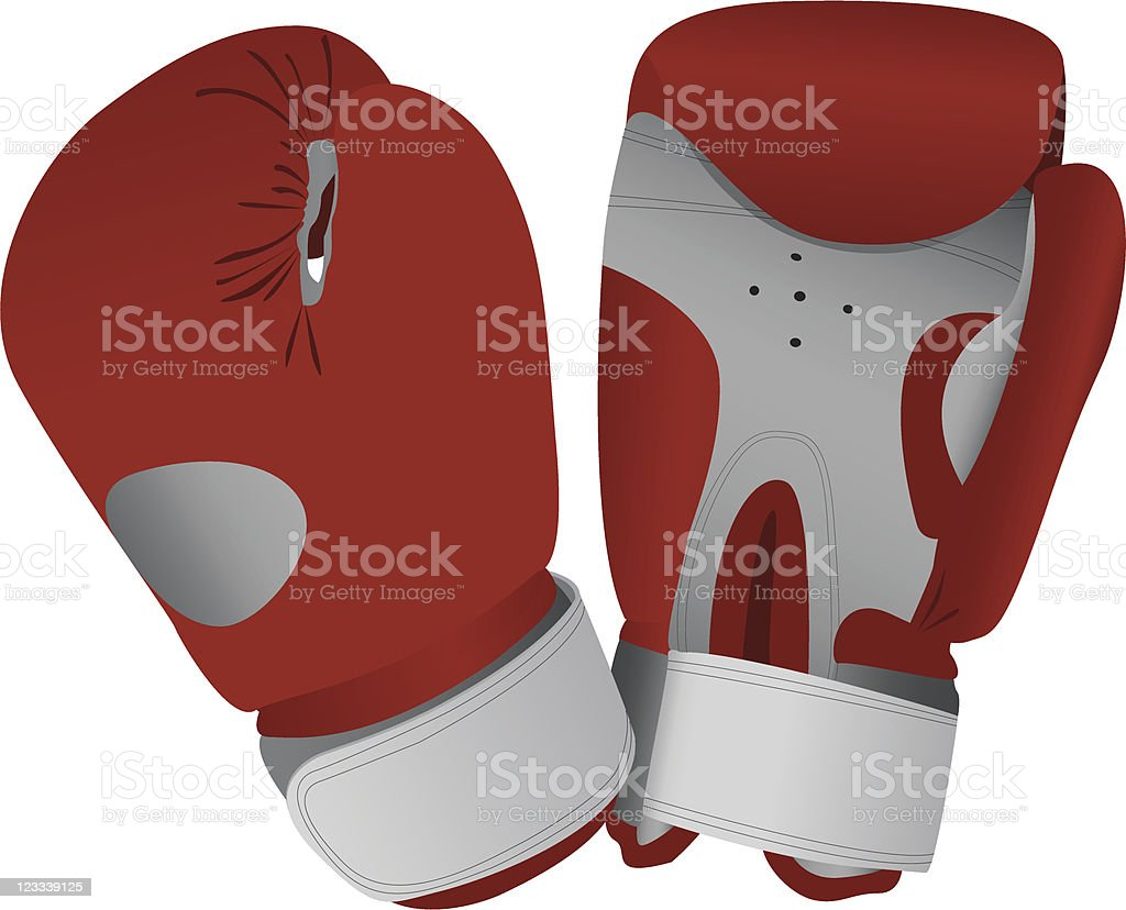 red boxing gloves royalty-free stock vector art
