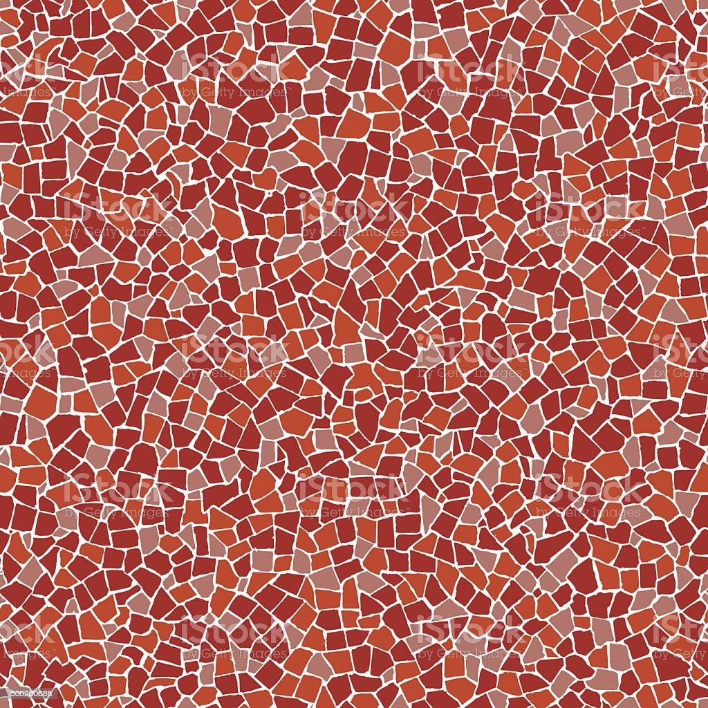 Red broken tiles pattern vector art illustration