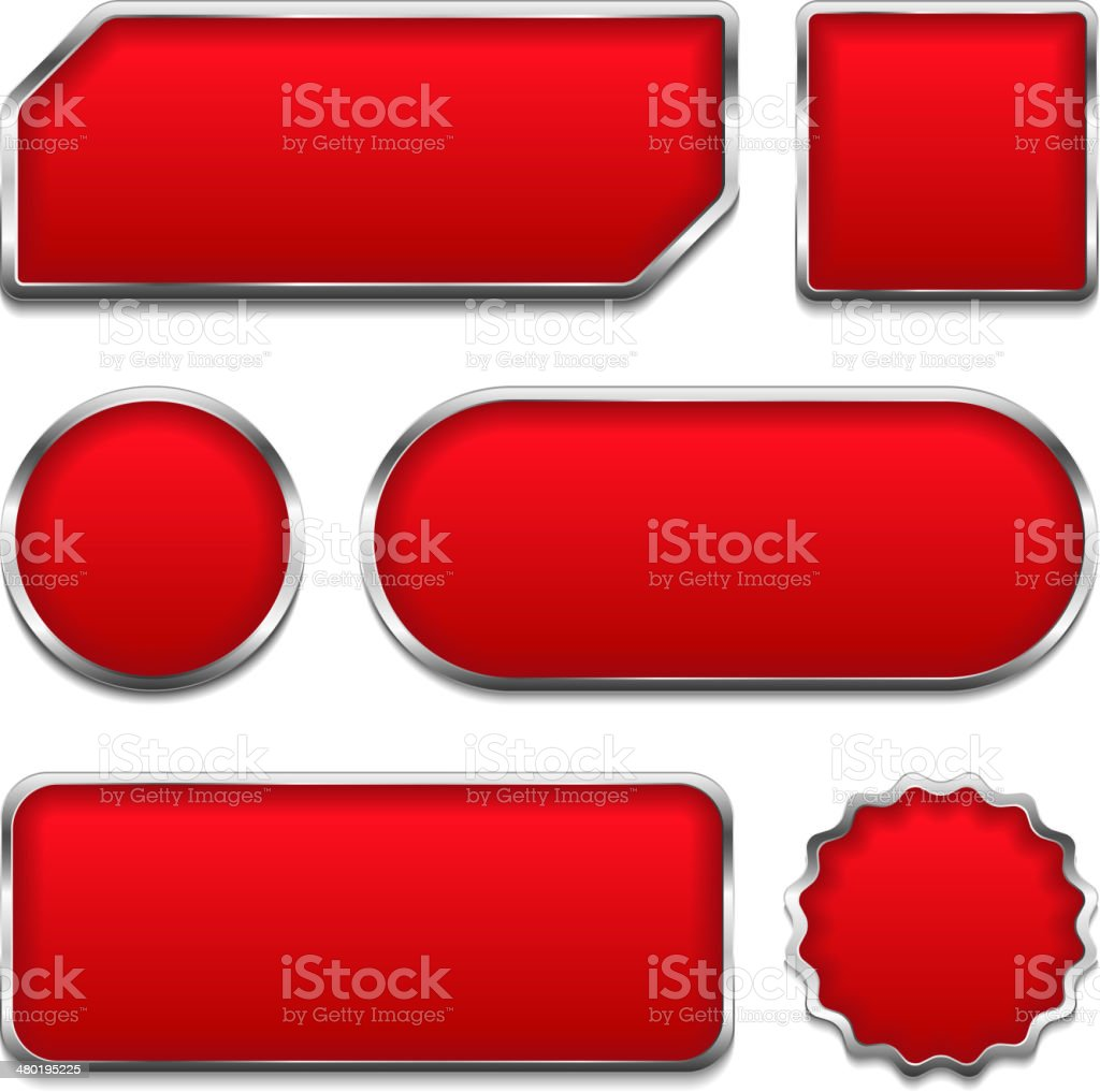 Red Buttons vector art illustration