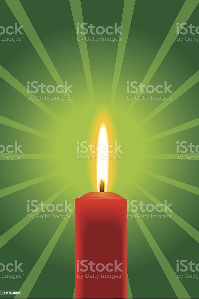 Red Candle royalty-free stock vector art
