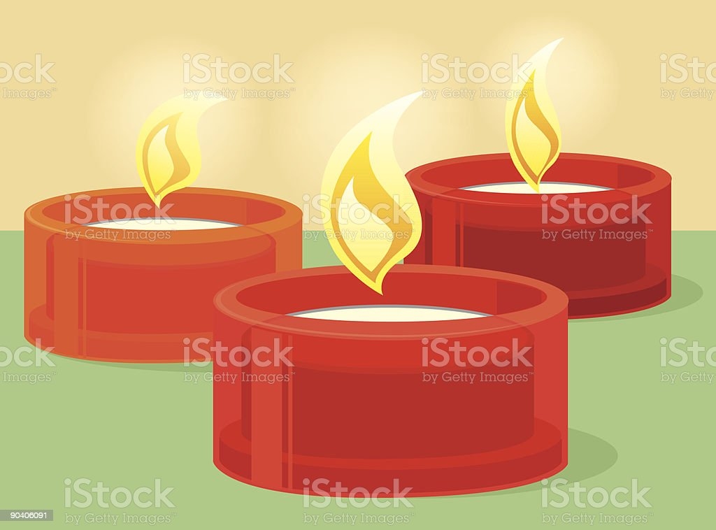 Red candles royalty-free stock vector art