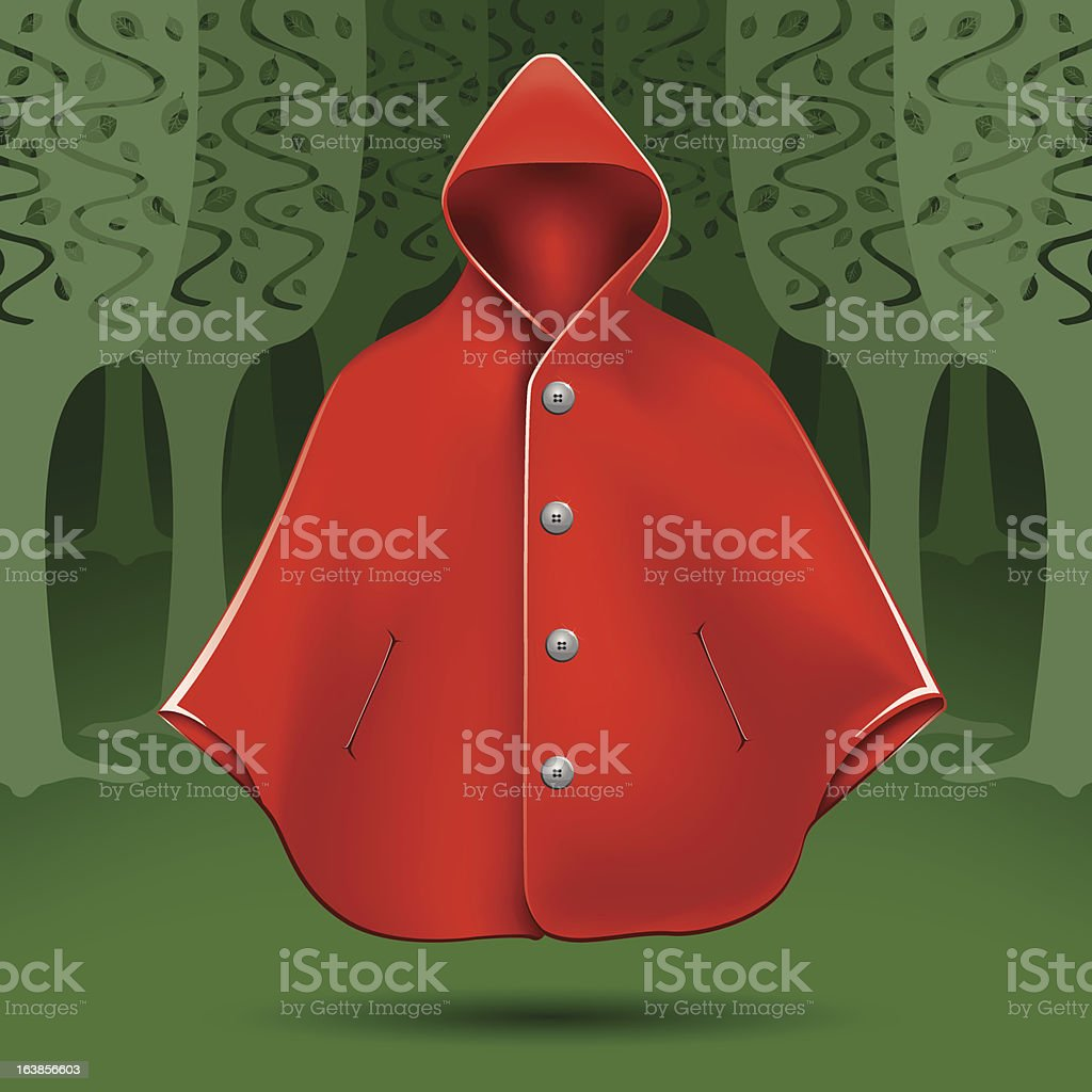 Red cape royalty-free stock vector art