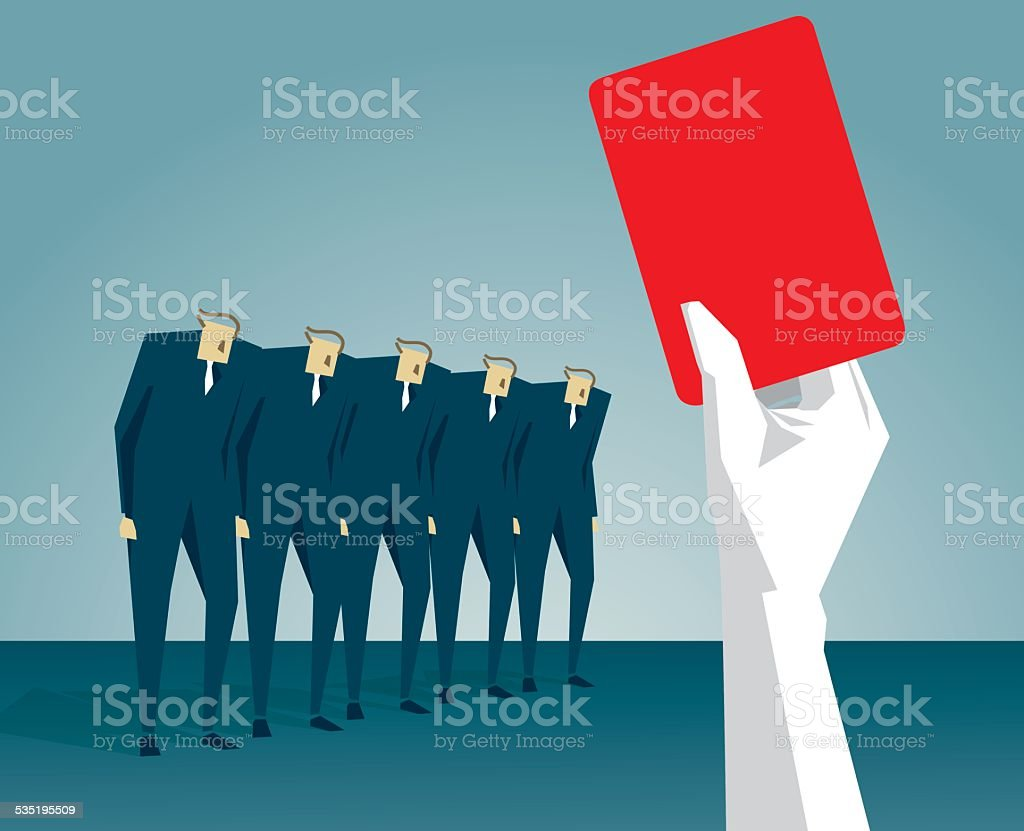 Red Card vector art illustration