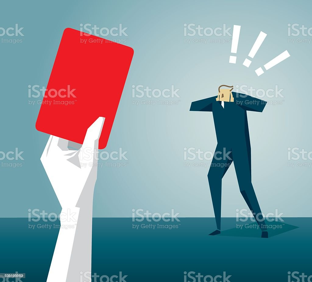 Red Card vector art illustration