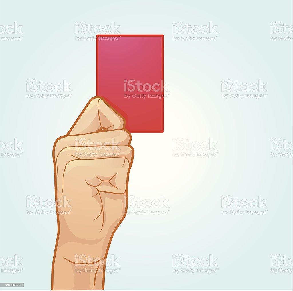 Red Card Vector vector art illustration