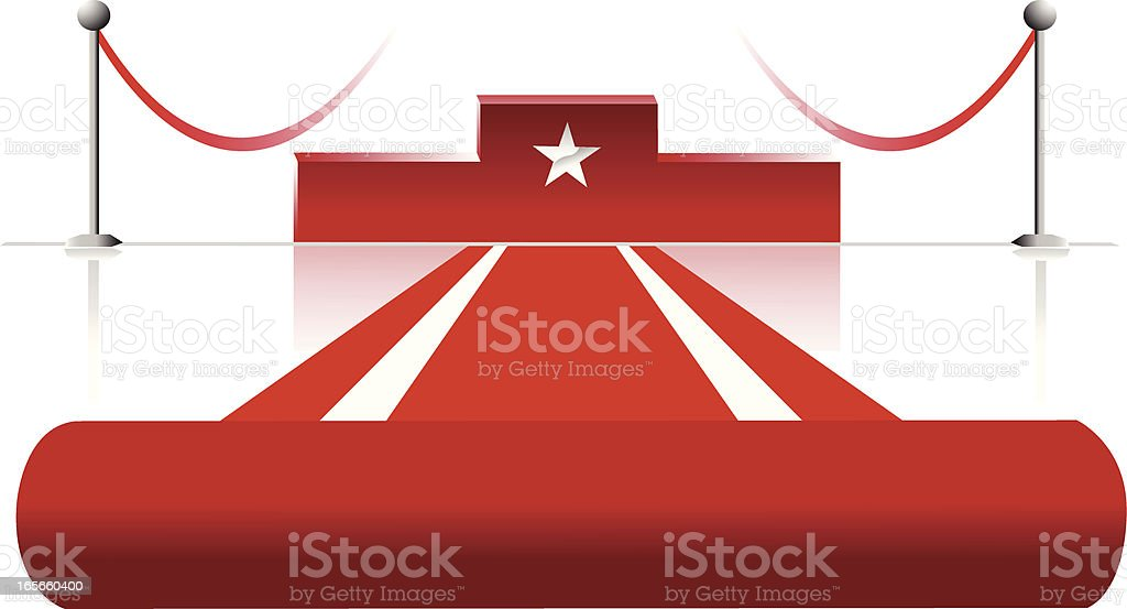 red carpet and podium royalty-free stock vector art