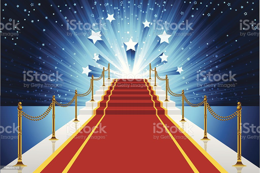 Red Carpet Background royalty-free stock vector art