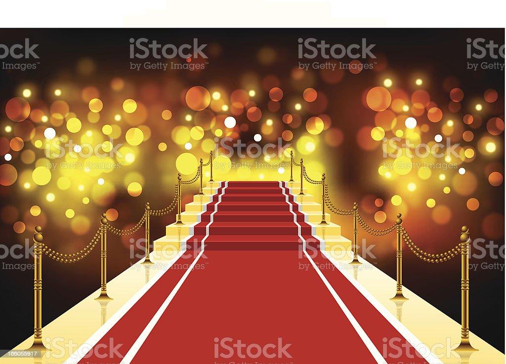 Red Carpet Background vector art illustration